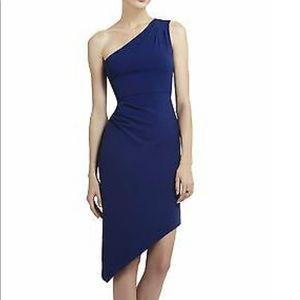 BCBG Maxazria asymmetrical knee length dress